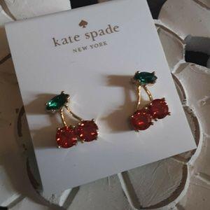 New! Kate Spade Crystal Cherry Studs!